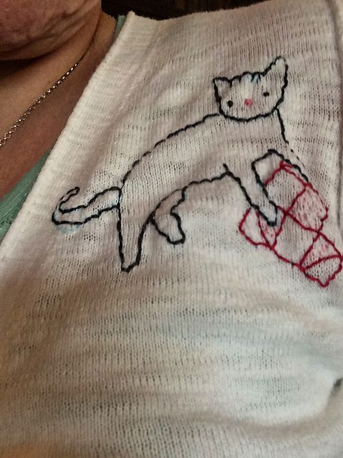 Crafty Cat embroidered sweater 4