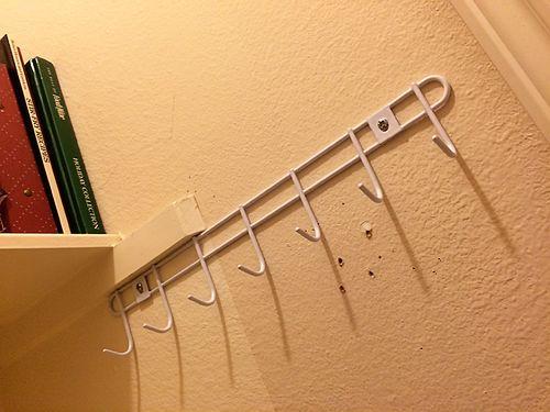 Hooks in pantry